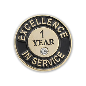 Excellence in Service One Year Lapel Pin