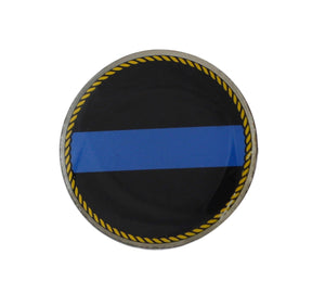 Thin Blue Line Lapel Hat Tie Pin Tack Circle