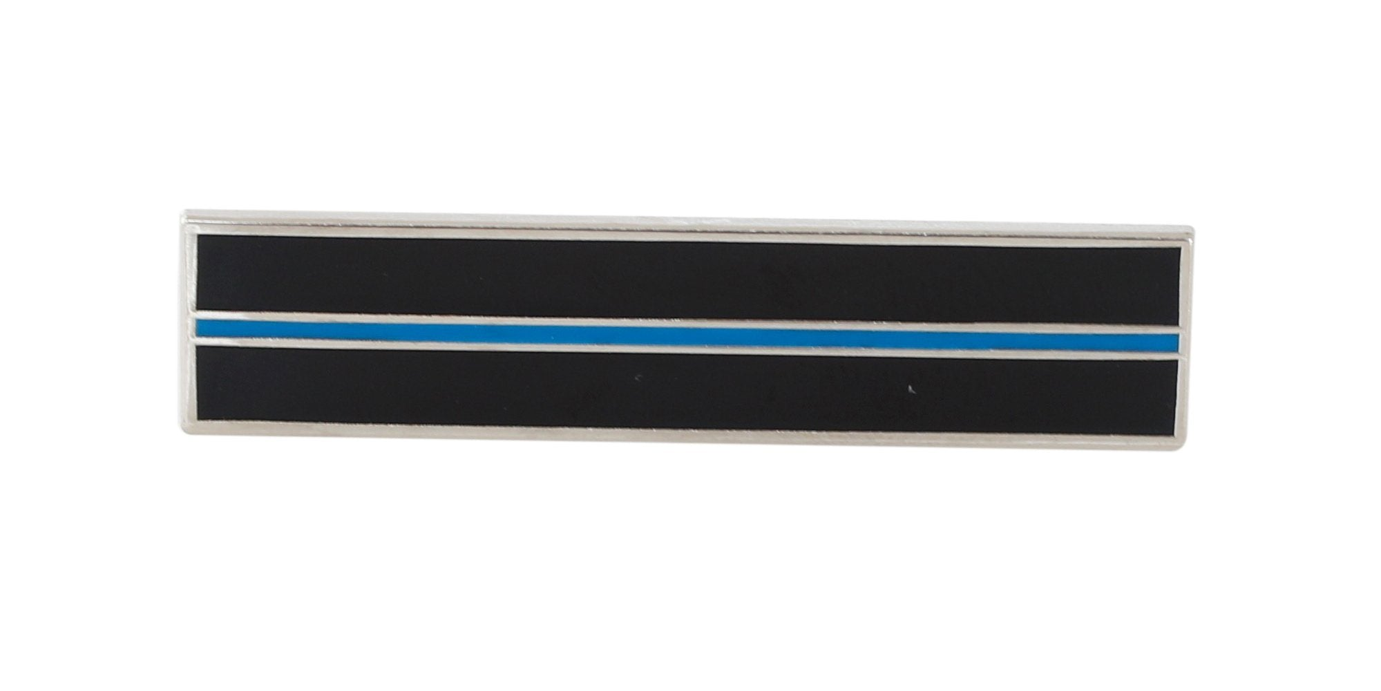 Thin Blue Line Silver Plated Service Bar Pin