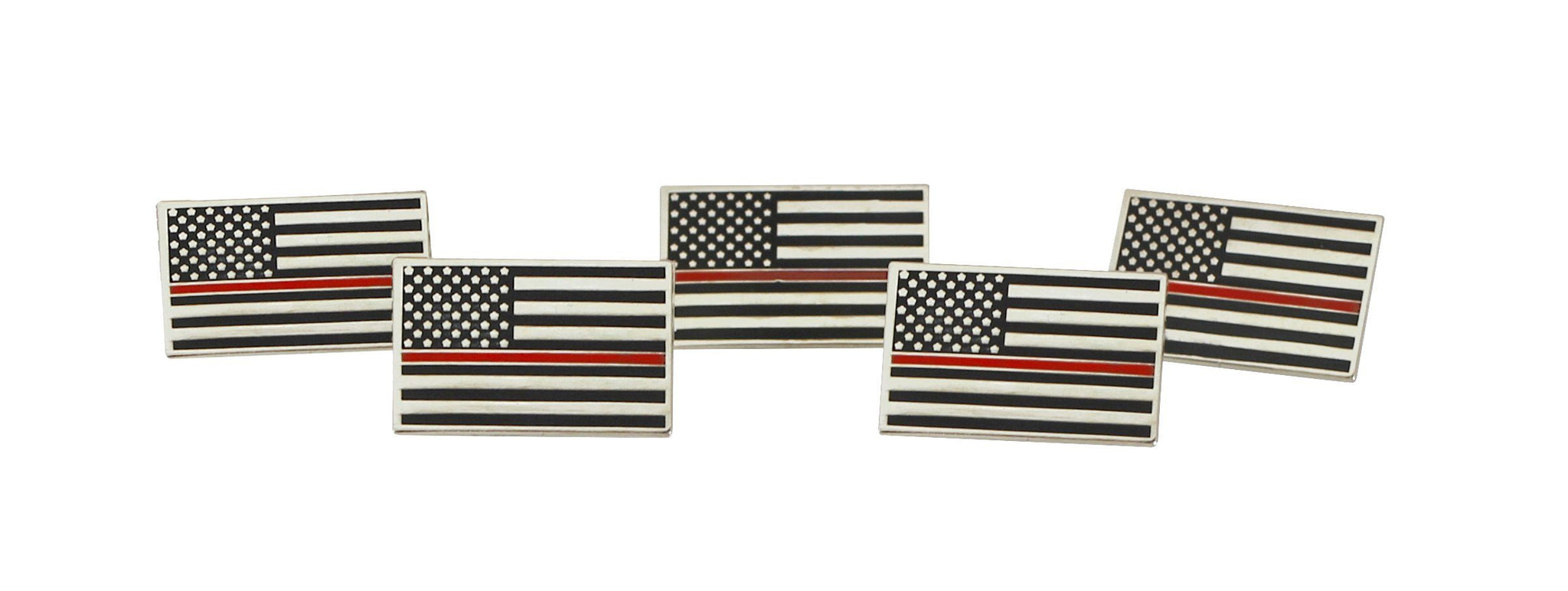 Thin Red Line American Flag Firefighter Support Lapel Pin