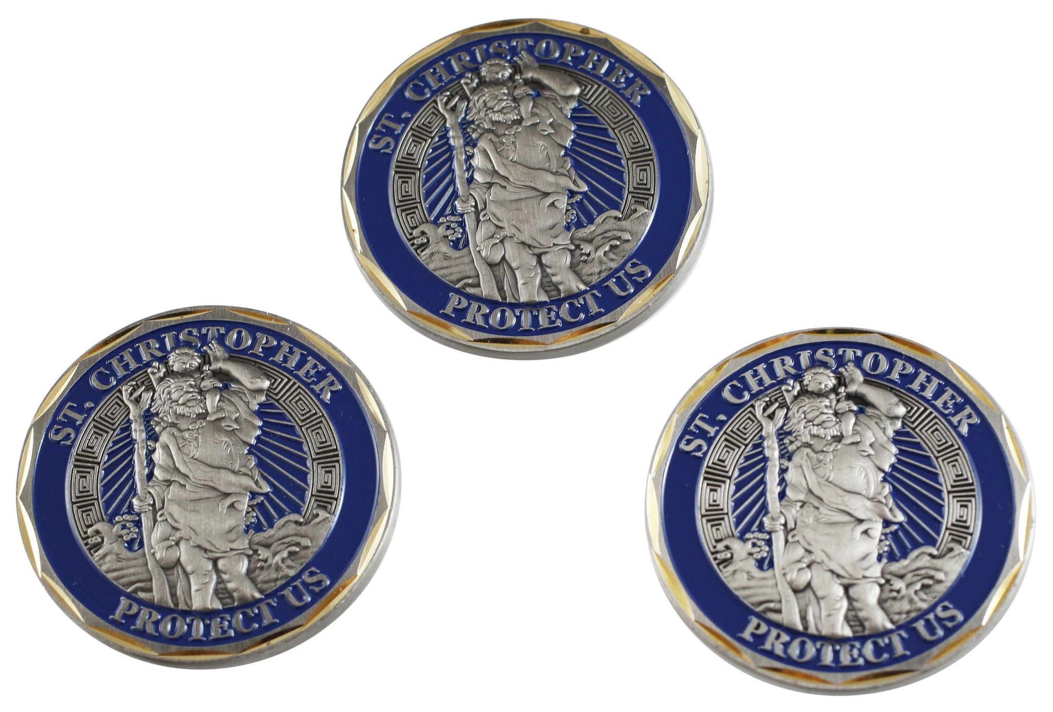 St Christopher Protect Us Challenge Prayer Coin