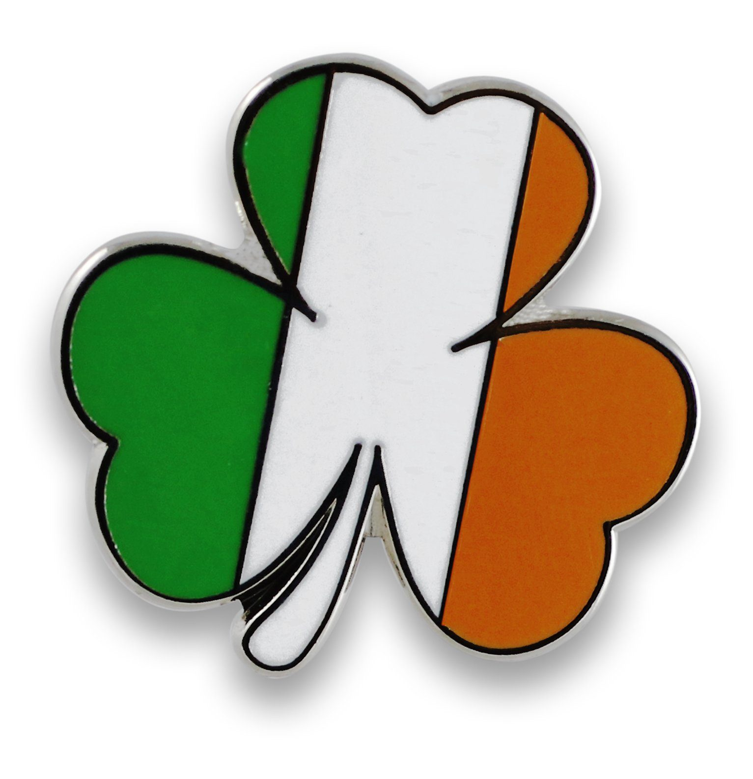 Irish Flag Tricolor Shamrock Enamel Lapel Pins