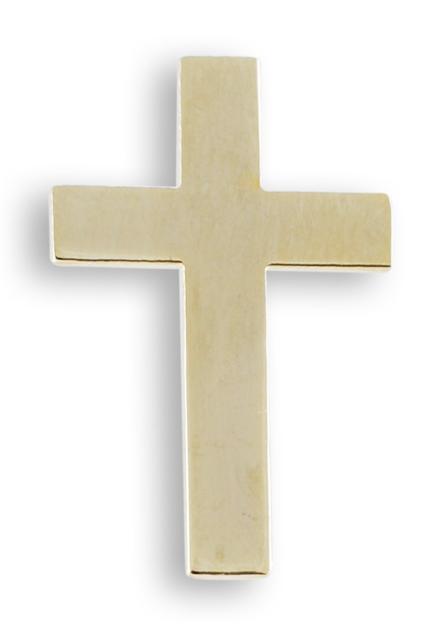 Cross Gold Plated Lapel Pin
