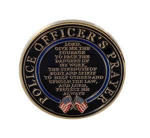 Saint Michael Patron Saint of Police Officer Challenge Coin Token Police Officer's Prayer