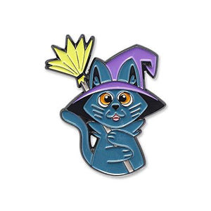 Cute Cat Witch Hat Enamel Pin