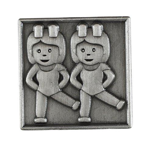 Emoji Antique Silver Tone Lapel Pin