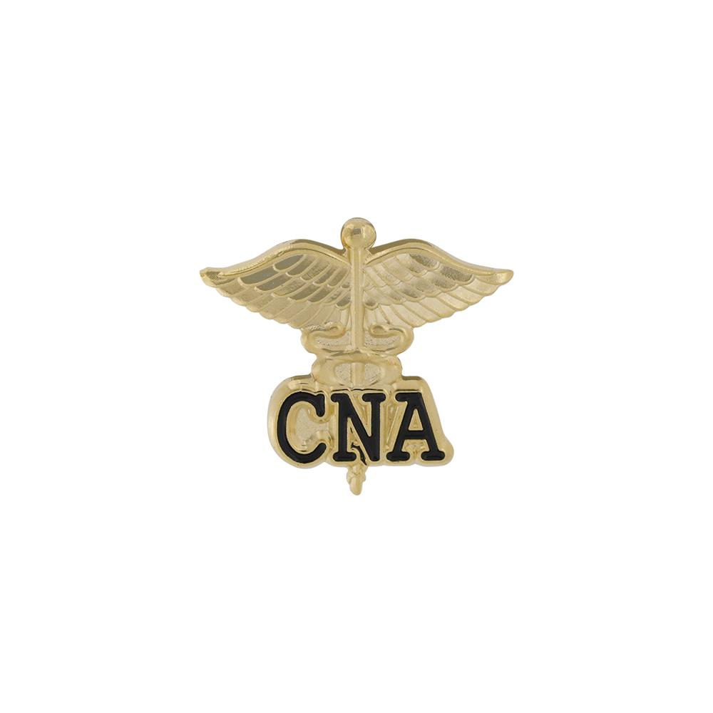 CNA Certified Nurse Assistant Emblem Pin Caduceus