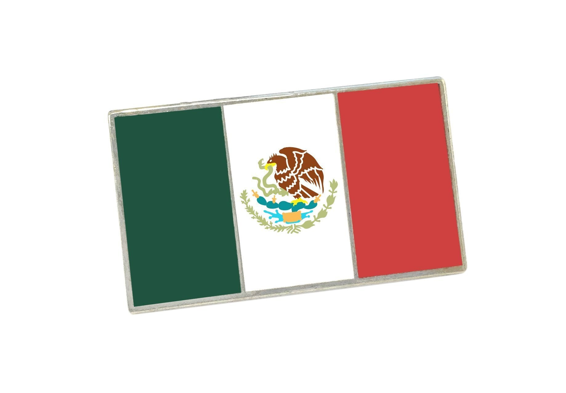 Official Mexican Flag Enamel Lapel Pin