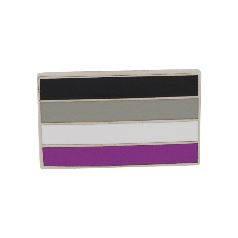 Asexual Pride Standard Rectangle Flag 3M Metal Badge