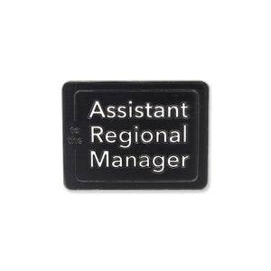Assistant to the Regional Manager Office Enamel Lapel Pin