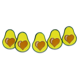 Avocado Heart Classic Enamel Pin