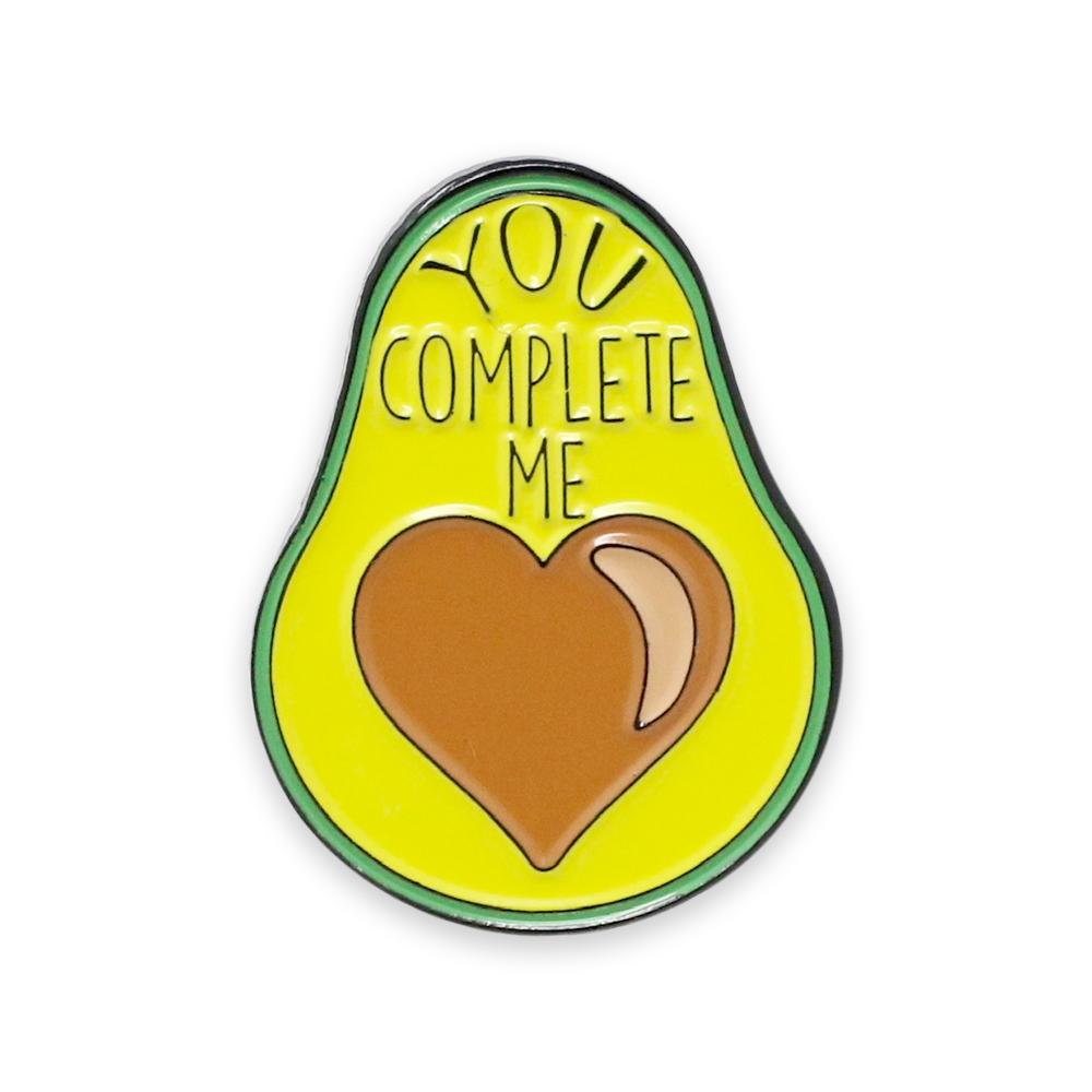 "Avocado Heart ""You Complete Me"" Enamel Pin"