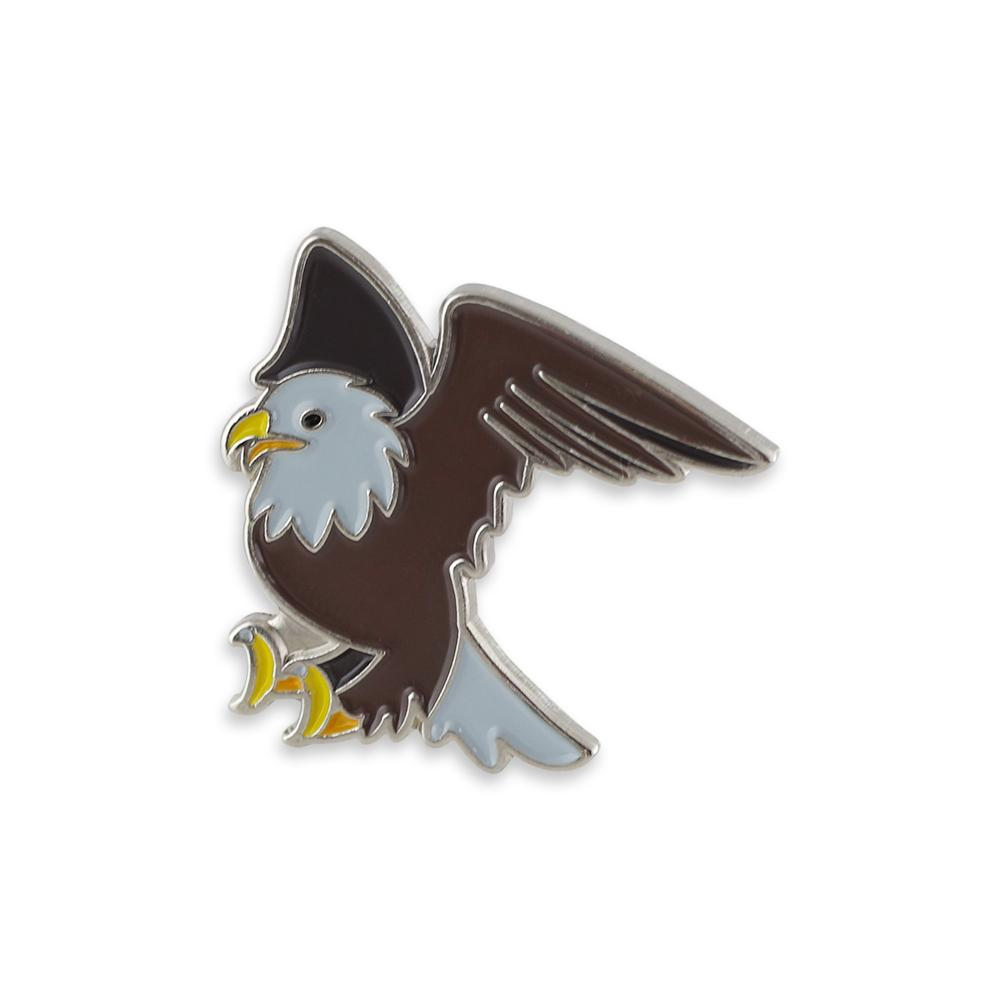 Bald Eagle Emoji Enamel Lapel Pin