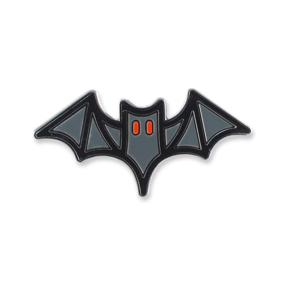 Bat Halloween Emoji Enamel Lapel Pin