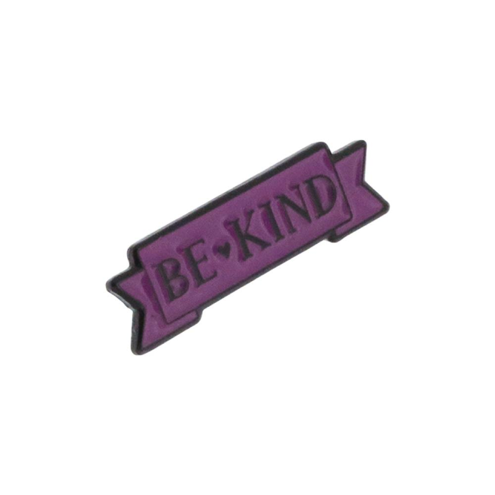 Be Kind Purple Ribbon Enamel Pin