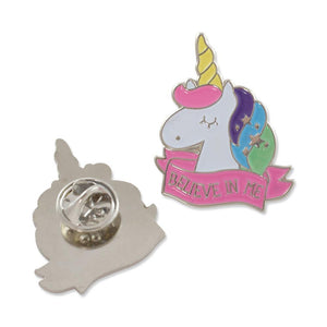 Believe In Me Unicorn Enamel Diestruck Lapel Pin