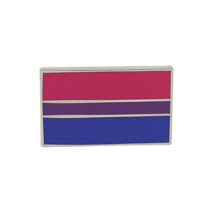 Bisexual Pride Standard Rectangle Flag 3M Metal Badge