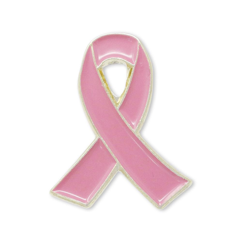 Breast Cancer Awareness Pin Gold Enamel Lapel Pin