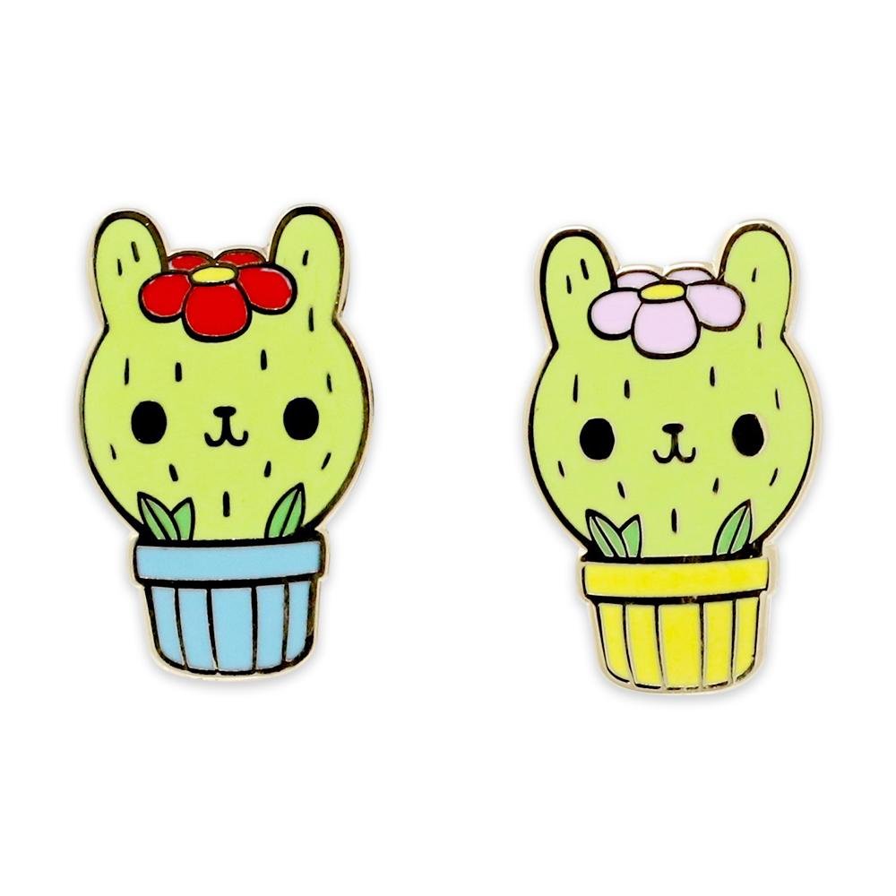 Cactus Cat Kitten Flower Pot Enamel Pins