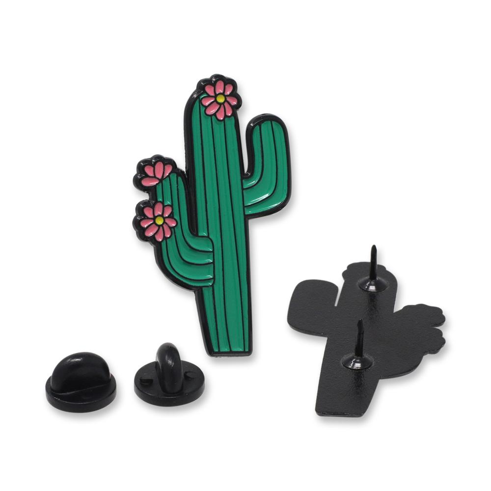 Cactus with Flowers Enamel Pin