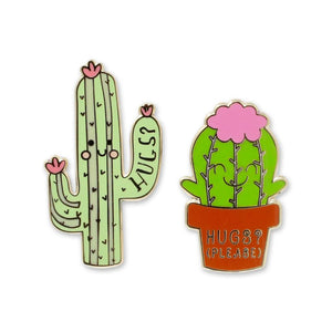 Cactus Hugs Enamel Pin Set