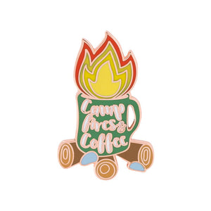 Campfires and Coffee Enamel Pin