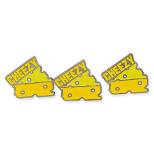 Cheezy Swiss Cheese Slice Enamel Pin