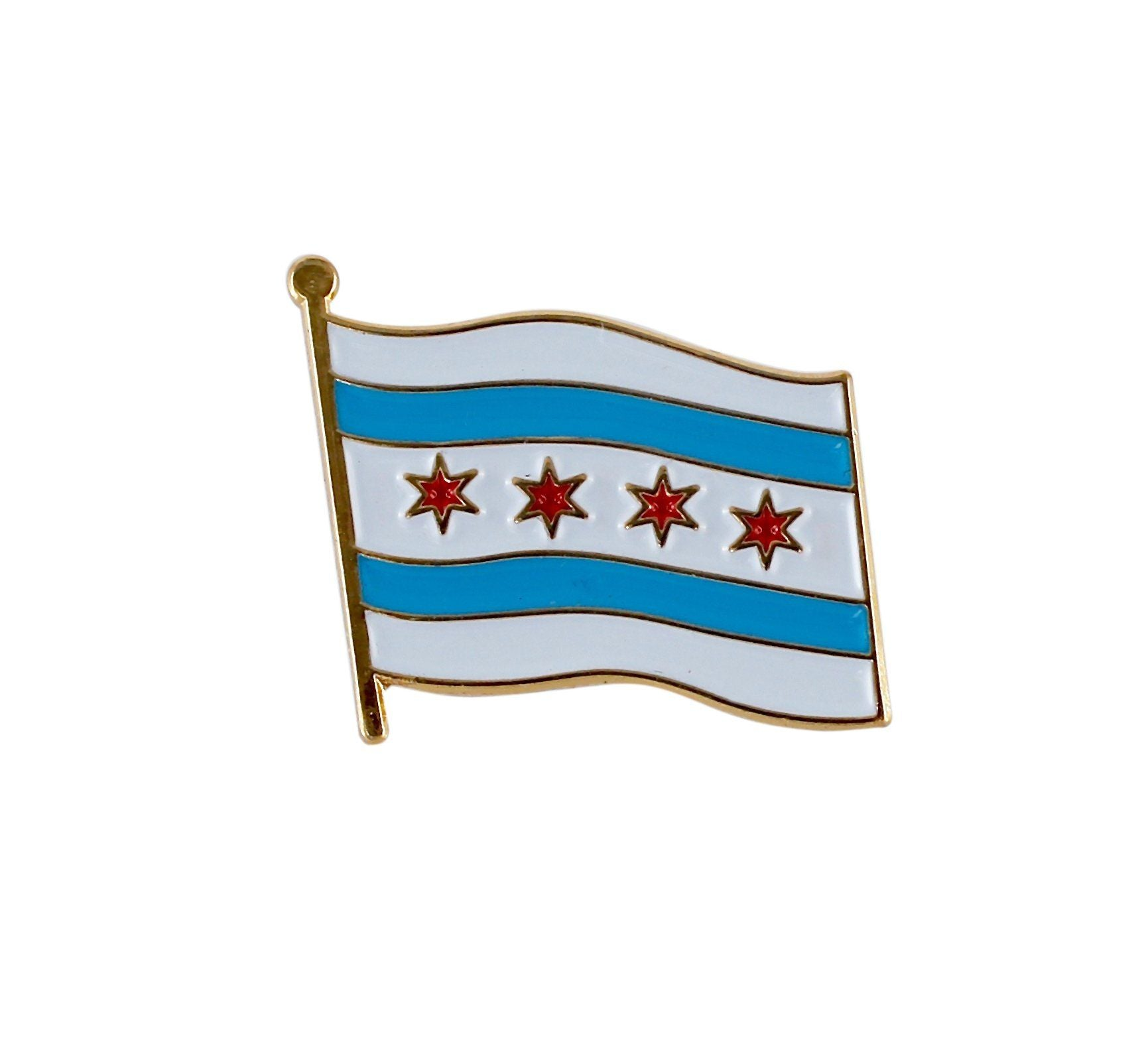 City of Chicago Flag Lapel Pin