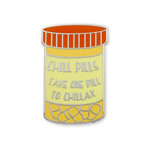 Chill Pill Hard Enamel Lapel Pin