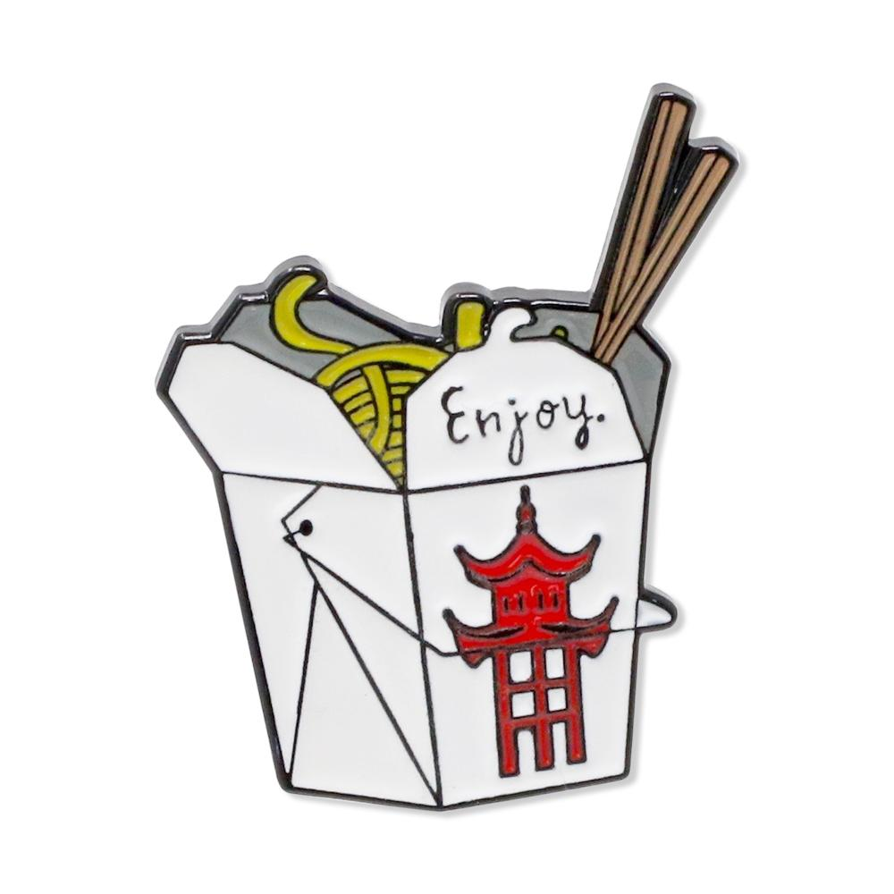 Chinese Takeout Box Enamel Pin