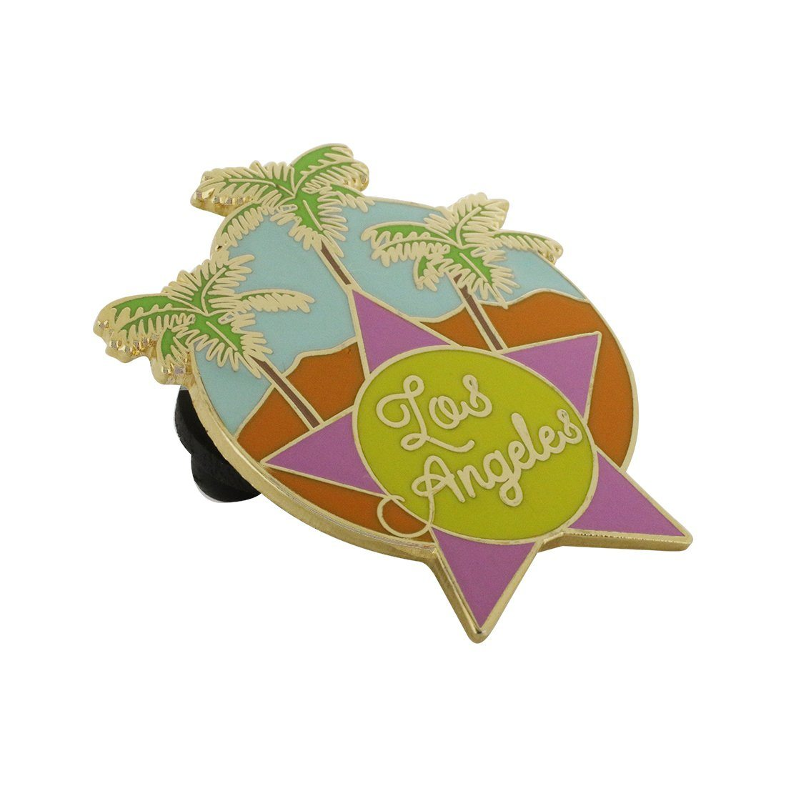 Los Angeles Hollywood Star Palm Tree Beach Souvenir Pin