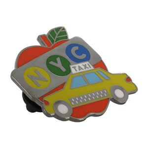 New York City Big Apple Yellow Taxi Cab Souvenir Pin