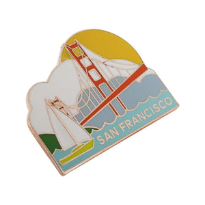 San Francisco Golden Gate Bridge Bay Souvenir Pin
