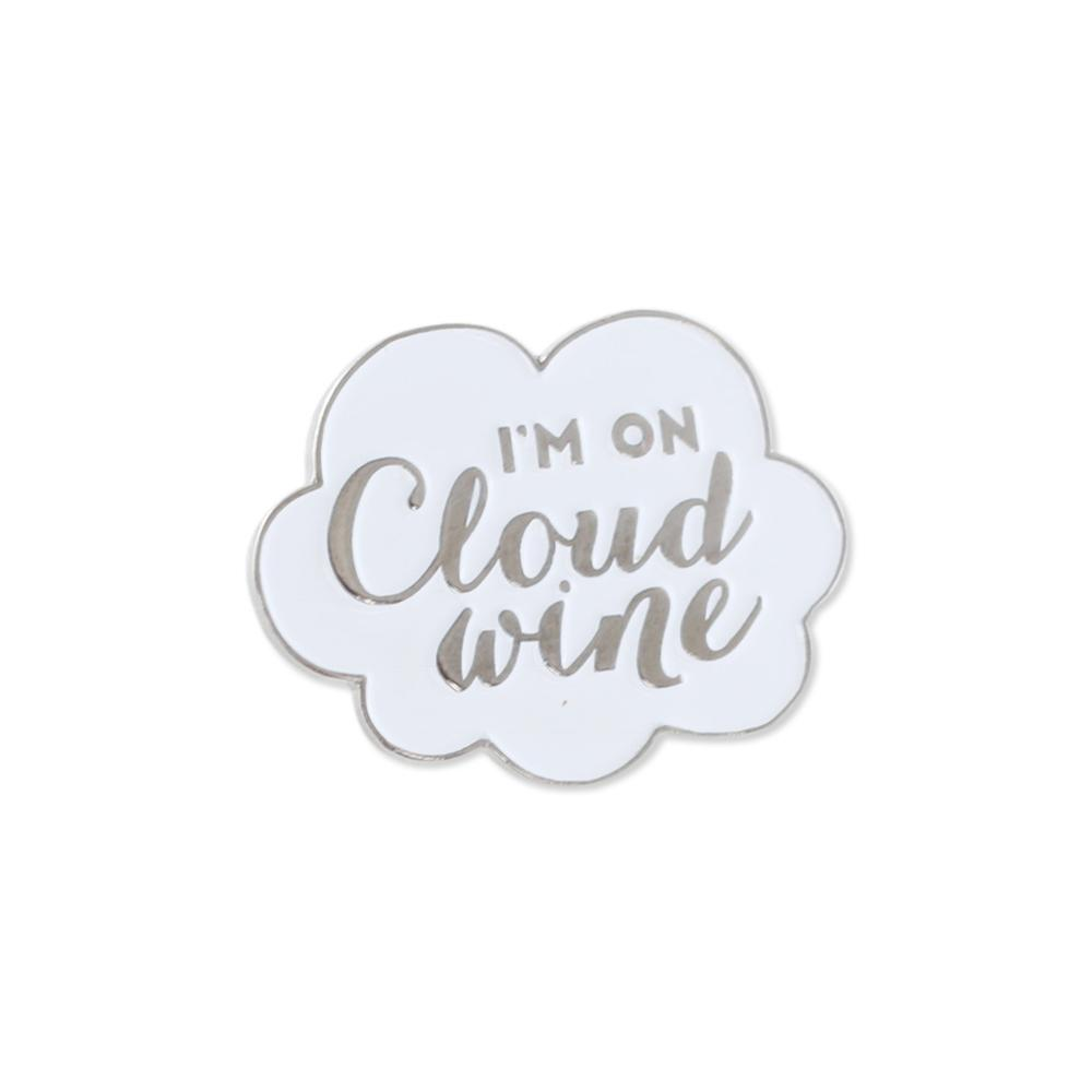 Cloud Wine Enamel Diestruck Lapel Pin