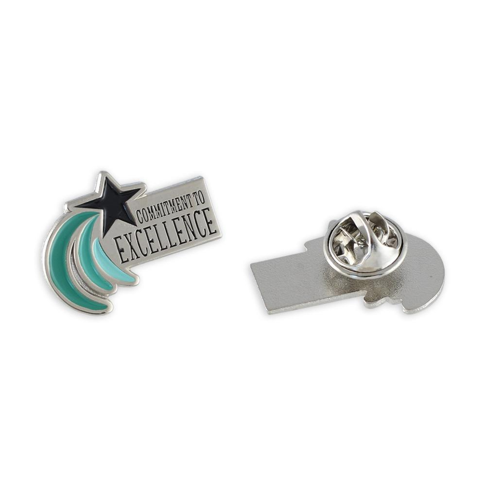 Commitment To Excellence Customer Service Award Enamel Lapel Pin