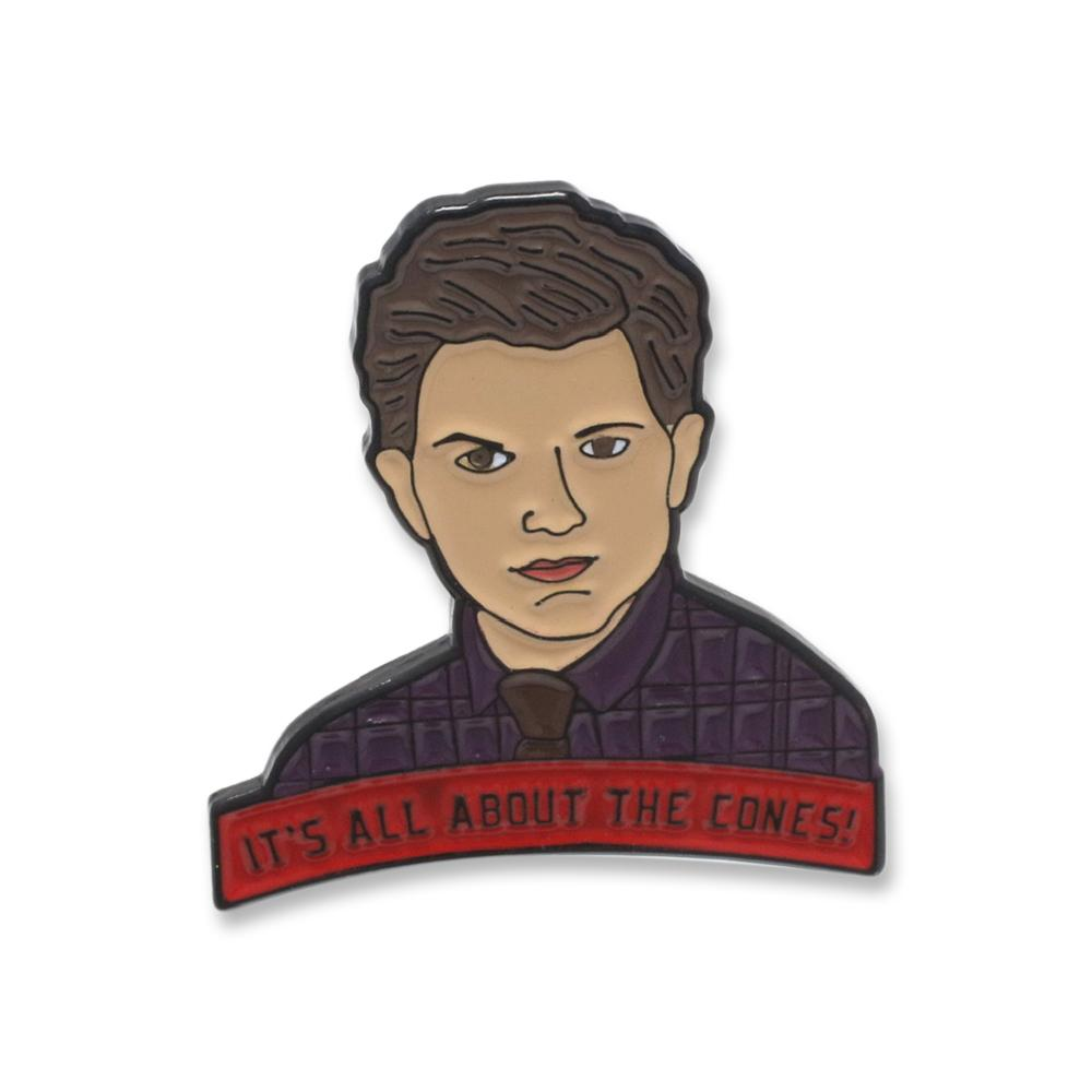 Parks and Rec It's All About The Cones Enamel Pin