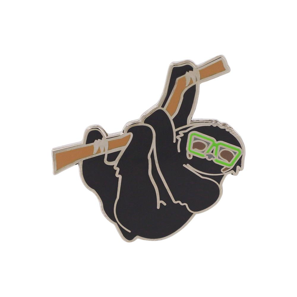 Cool Sloth with Sunglasses Hard Enamel Pin