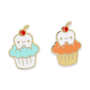 Sweet Tooth Cupcake Candy Cherry Sweet-Tooth Enamel Pins