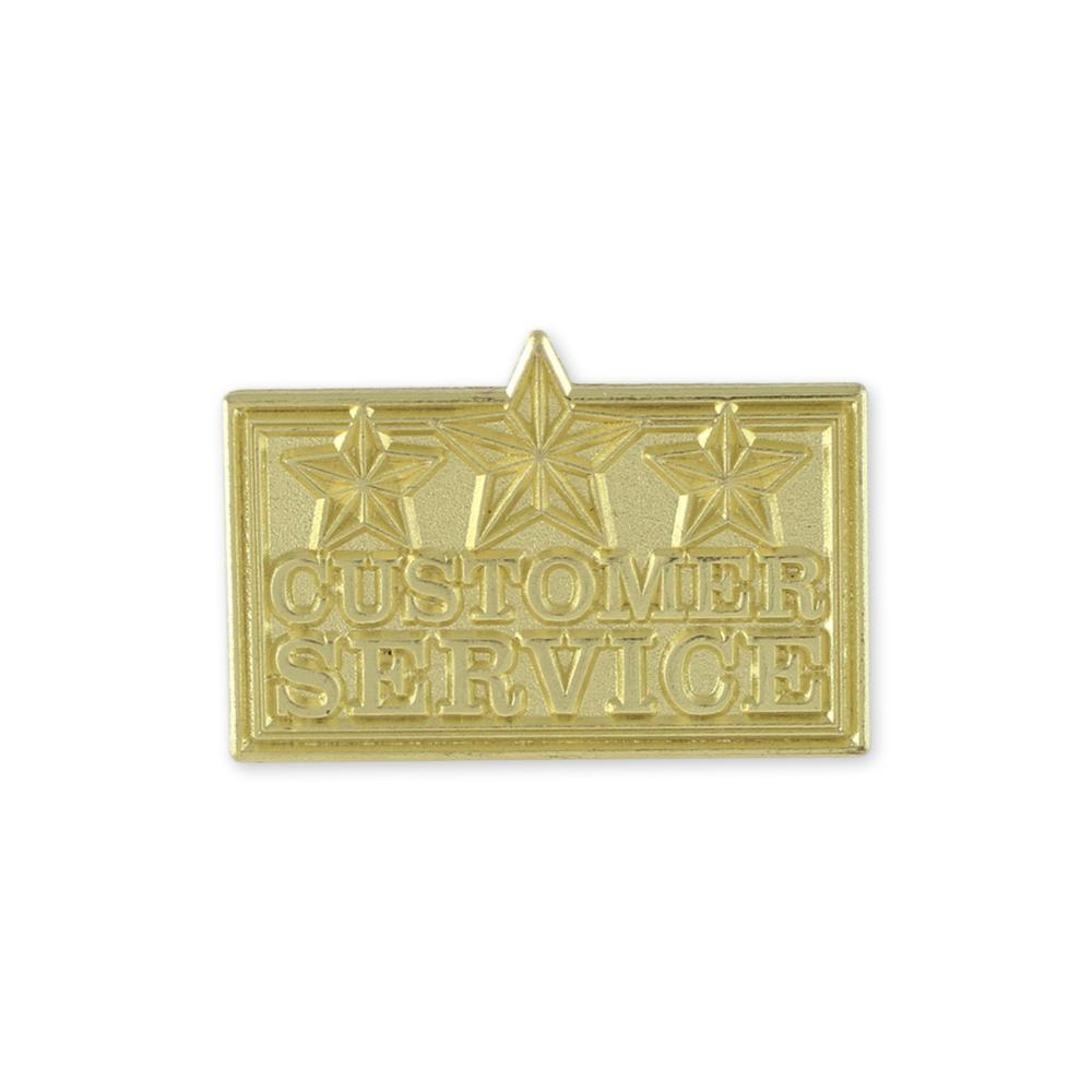 Customer Service Recognition Shiny Gold Lapel Pin