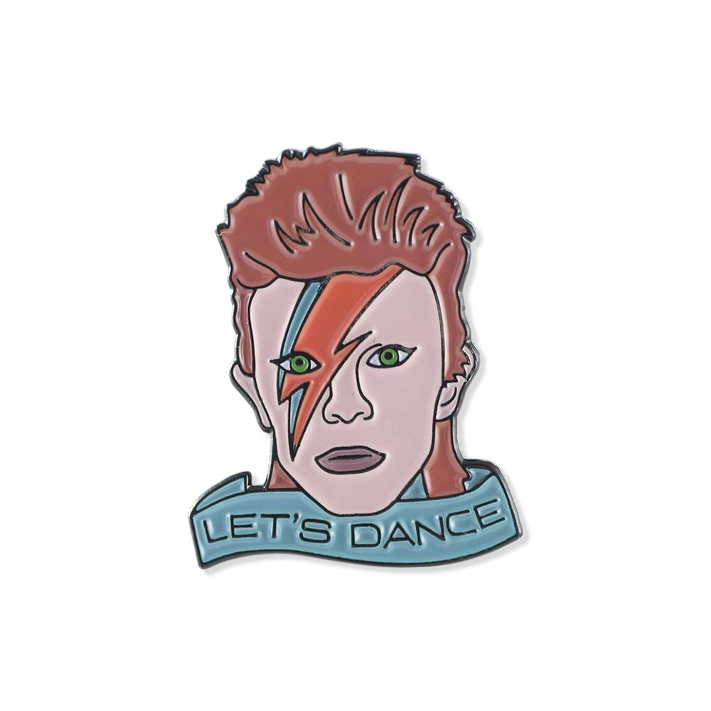 David Bowie Let's Dance Tribute Enamel Lapel Pin
