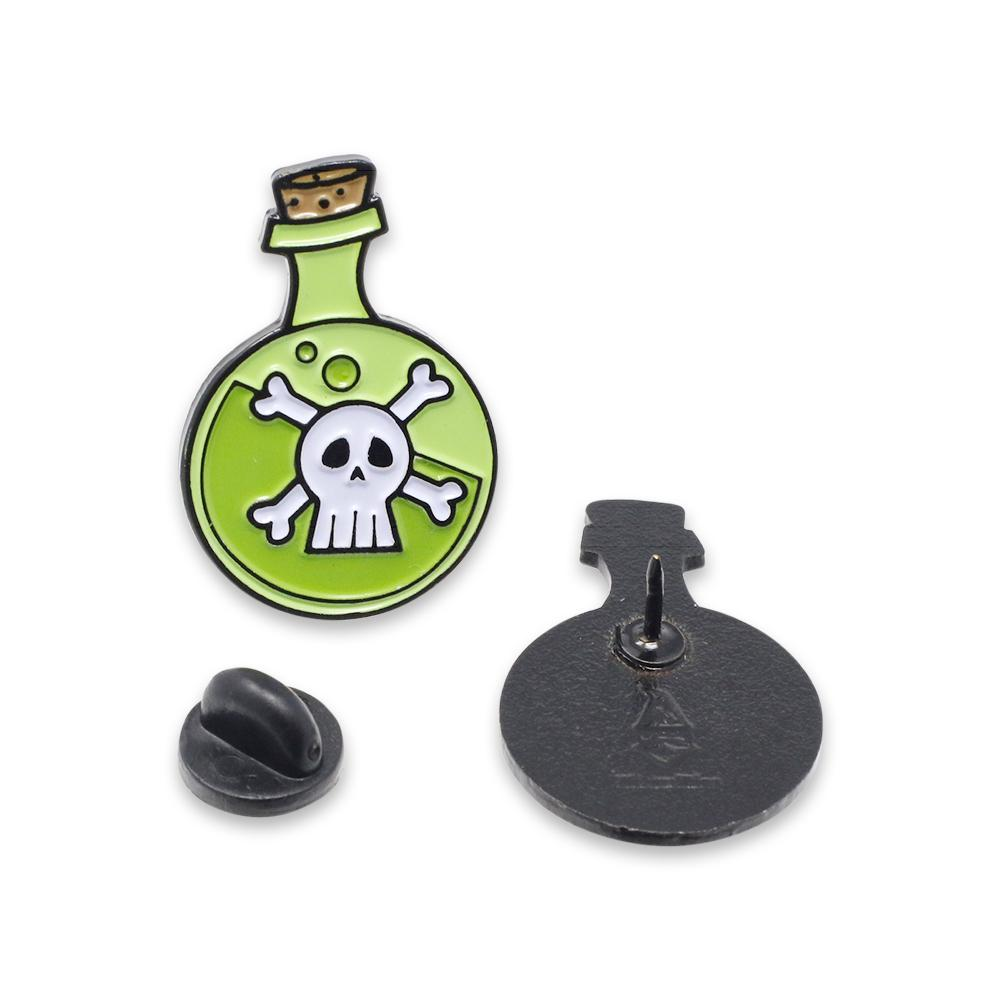 Death Potion Elixir of Doom Corked Glass Halloween Enamel Pin