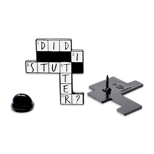 Did I Stutter Crossword Puzzle Stanley The Office Enamel Pin
