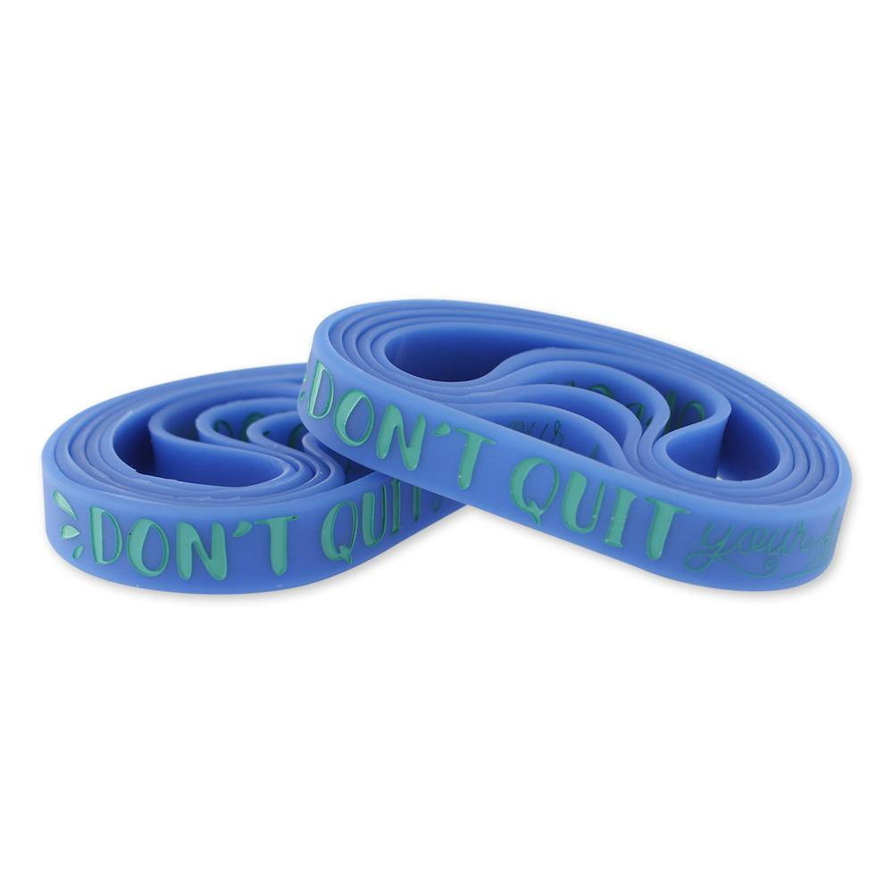 Don't Quit Your Daydream Motivational Blue Silicone Wristband