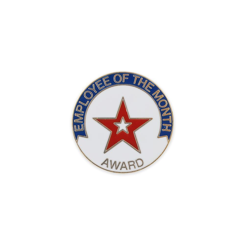 Employee of The Month Award Enamel Lapel Pin