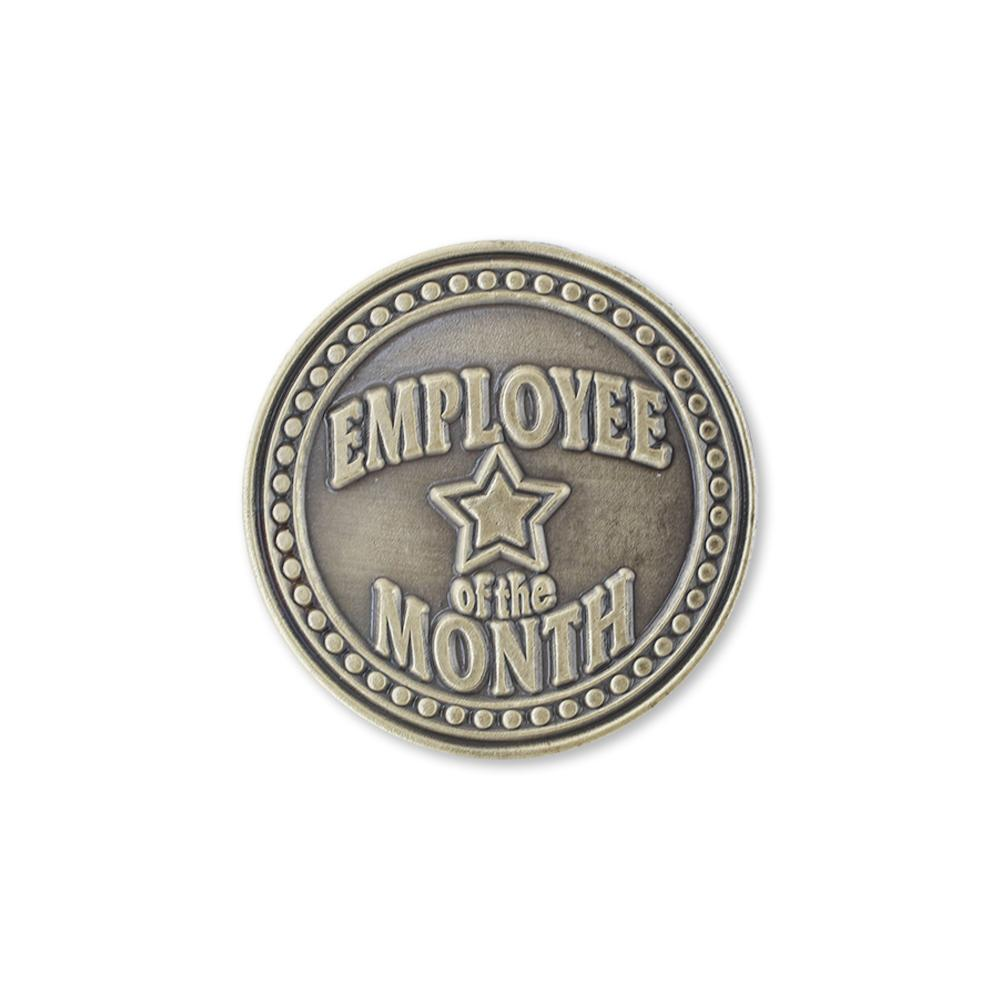 Employee of The Month Gold Diestruck Lapel Pin