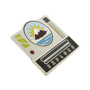 Explore Polaroid Camera Hard Enamel Silver Pin