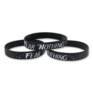 Fear Nothing Motivational Black Silicone Wristband