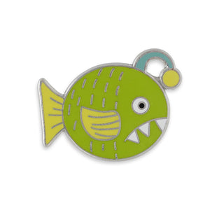 Fish With Teeth Hard Enamel Lapel Pin