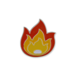 Fire Flame It's LIT Fuego Enamel Lapel Pin