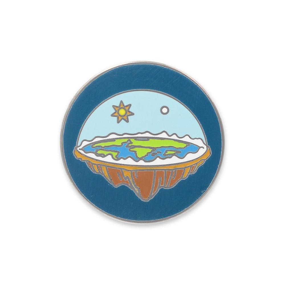 Flat Earth Sky Dome Hard Enamel Lapel Pin